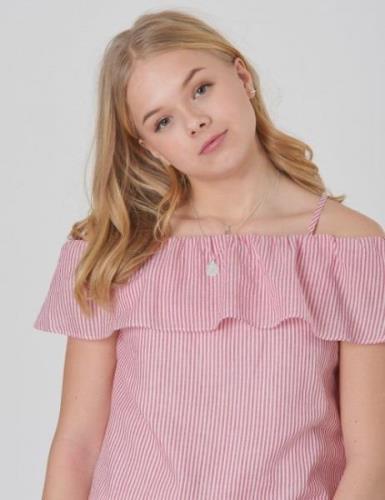 DESIGNERS, REMIX GIRLS, Kikka Top, Rød, Topper/Bluser för Jente, 12 år