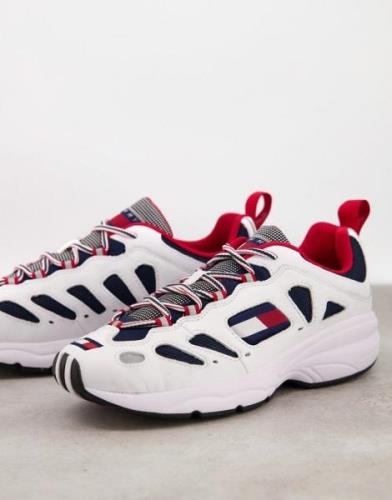 Tommy Hilfiger heritage chunky trainers in white-Multi