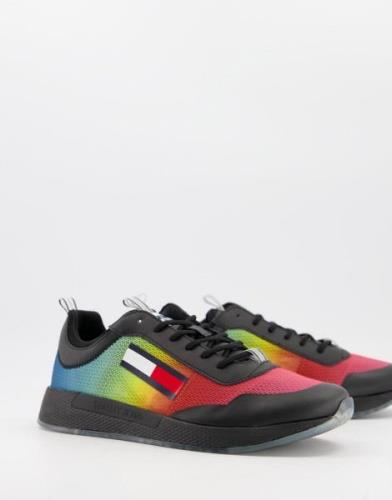 Tommy Hilfiger degrade runner trainers in multi-Pink