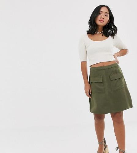 Vero Moda Petite utility skirt-Green