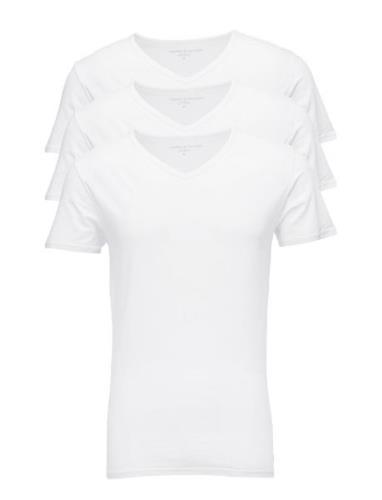 Stretch Vn Tee Ss 3pack T-shirts Short-sleeved Hvit Tommy Hilfiger