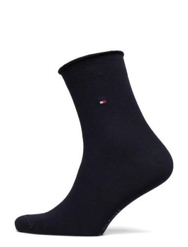 Th Women 98% Cotton Sock 1p Lingerie Socks Regular Socks Svart Tommy H...